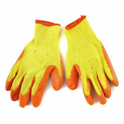 Large Size 10 Polycotton Latex Rubber Coated Protective Work Gloves 12 Pairs