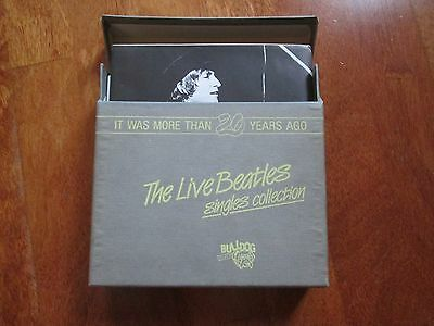 "THE BEATLES The Live Beatles Singles Collection BOX 13 X 7"" ITALY RARE NO LP"