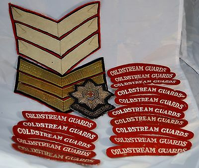 A Collection of 18 Coldstream Guards Patches and Badges of Various Dates