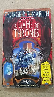 George R.r. Martin A Game Of Thrones Uk Voyager 1996 Preview Edition
