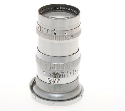 Carl Zeiss Jena 13.5cm 135mm F:4 135/4 Sonnar chrome pre war for Contax II III