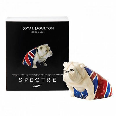 Royal Doulton Bulldog Jack From Bond 007 Spectre 2015 Limited Edition
