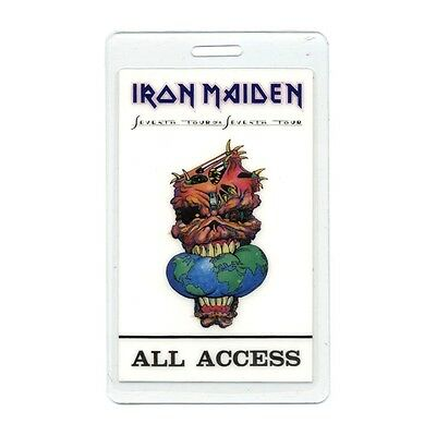 Iron Maiden authentic 1988 concert tour Laminated Backstage Pass