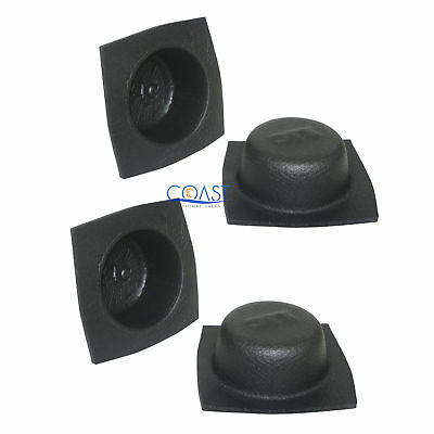 "2X Universal 6.5"" Black Round Foam Acoustic Audio Stereo Speaker Baffle VXT652"