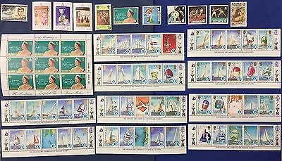 Solomon Islands 10V. Mlh* 1 Used 1 Sheet Queen Mother 10 Sheets Cup 1987 Mlh**