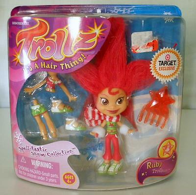 Trollz Onyx Ruby Trollman Spell-tastic Snow Collection Figure And Accessories