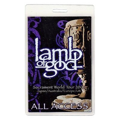 Lamb of God authentic 2006 concert tour Laminated Backstage Pass
