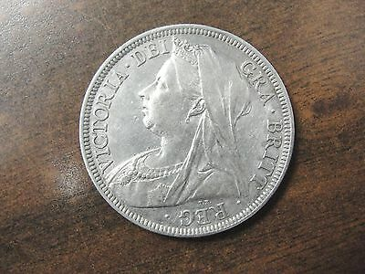 1900 Great Britain Silver Half Crown Coin * High Grade * Km #782