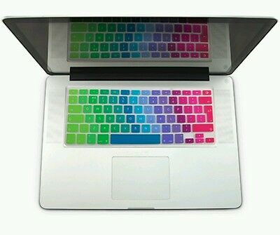 "Marblue Silicone UK Keyboard Protector for Macbook Pro 13"" - Rainbow Coloured"