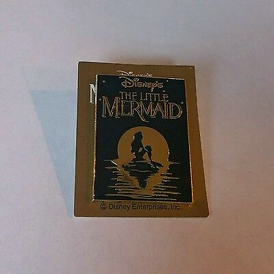 Japan Tokyo Disney - Little Mermaid Princess Ariel Silhouette Movie Poster Pin