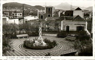 Cape Cabo Verde Praceta Dr. Regala Real Photo Postcard