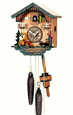 Hubert Herr,  Black Forest 1 Day cuckoo clock with moving beer drinker..