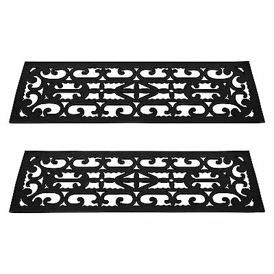 "2 Pcs Regal Stair Treads Rubber Step Mats Indoor Outdoor 9.25"" X 28.5"" Non Slip"