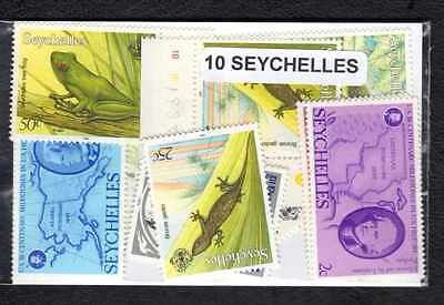 Seychelles 10 timbres différents