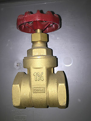 "Brass Gate Valve 1 1/4"" BSP Female"
