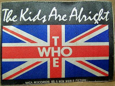 The Who - KIDS ARE ALRIGHT Promo Fabric Patch  [1980] - NM
