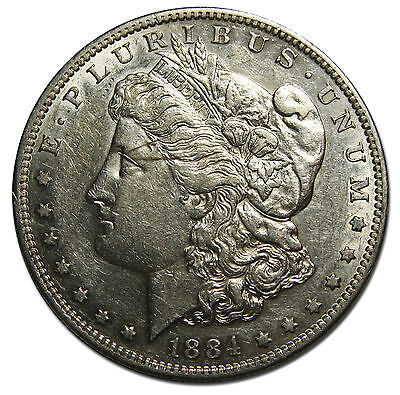1884S MORGAN SILVER DOLLAR COIN Lot# MZ 3794