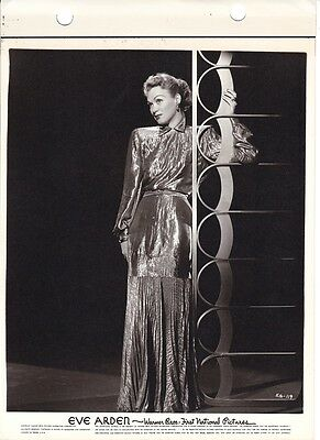 EVE ARDEN Glamour Portrait ORIGINAL Vintage 1940s Warner Bros. Key Book Photo