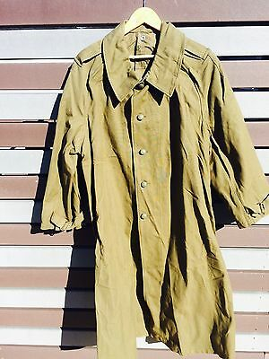 WW11 French TRENCH COAT M35 Large Cavalry & Motor Twill Canvas OG Paulhan Fils