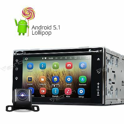 UK Cam+Eonon Double 2 DIN Android 5.1 System Car Stereo DVD Player GPS SAT NAV L