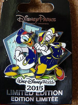 Disney LE pin*  WDW 2015 DONALD  & DAISY DUCK