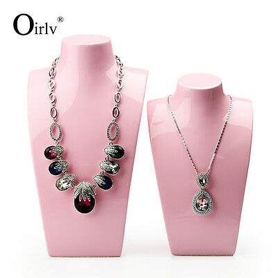 Oirlv Jewelry Necklace Display Bust Neck Form Mannequin for Shop Window Pink New