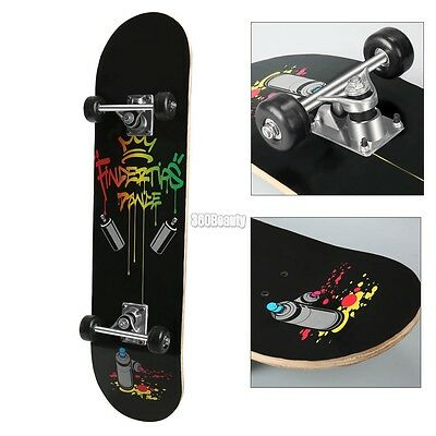 Skateboard Complete Maple wooden Skateboard with crown printed Cool Design
