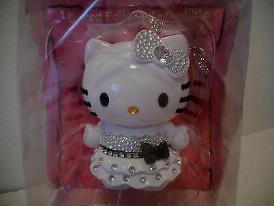 HELLO KITTY Figure Doll Limited Edition Black & White Crystal Sanrio - NIP