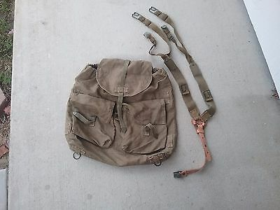 Czech Army 1950's backpack and suspenders - nice cold war set