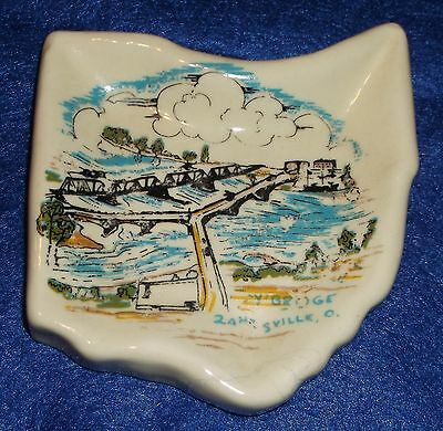 Zanesville Ohio Y Bridge Ashtray Tray Made By Retarded Starlight School Workshop
