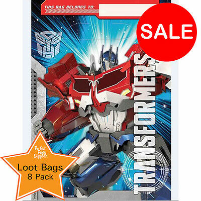 Transformers Loot Bags 8 Pack Boy Birthday Party Supplies  Favour Treat