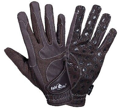 Riding gloves Fullgrip Silicone Anti-slip coating High Quality brown Size M