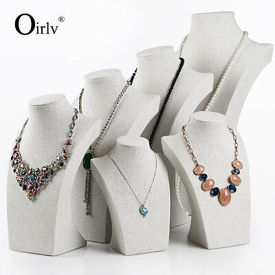 Oirlv Jewelry Display Pendant Necklace Bust Tall Mannequin for Shop Window Show