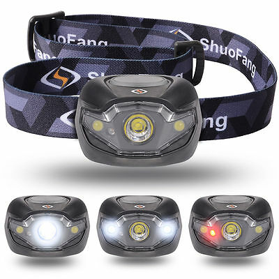 CREE XM-L LED Rechargeable HeadLamp Torch HeadLight 3x AAA Battery LD412
