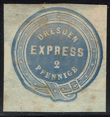 Germany 2p Dresden Express Cut Square Used?, Page Remnant - Lot 041016