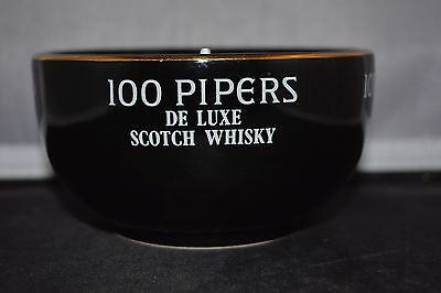 Seagram Scotch Whisky 100 Pipers From Scotland Bowl Waechtersbach