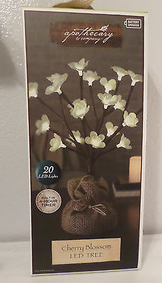 Cherry Blossom Led Tree Christmas Winter Decor Timer & Burlap Apothecary & Co