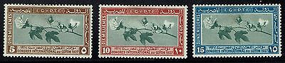 Egypt SC# 125 - 127 - Mint Hinged (Small Page Rem on 125) - Lot 022816