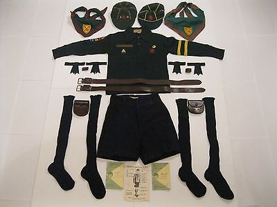 Rare 1960's Boy Scouts Canada Wolf Cubs Complete Uniform With Paperwork & Extras