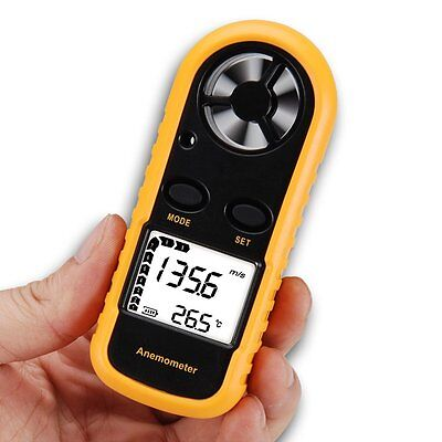 Anemometer Thermometer Air Wind Speed Velocity Flow Meter Measurement°C°F