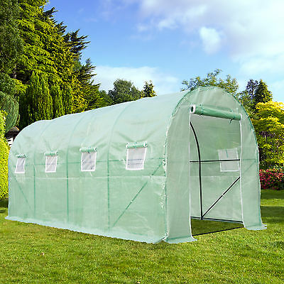 Heavy Duty Walk In Green House Cover Frame Dome Kit Plant Garden House16'x7'x7'