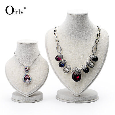 Oirlv Jewelry Display Pendant Necklace Displays Neck Form Bust for Necklaces New