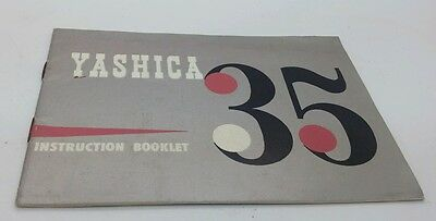 "Vintage camera "" YASHICA 35 "" Instruction booklet 16p."