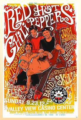 RED HOT CHILI PEPPERS THE POSTER SHEET 24x36 INCH MUSIC ROCK CONCERT NEW PM192