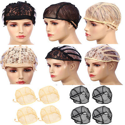 10PCS Breathable Mesh Weaving Cap Hair Net With Adjustable Straps For Making Wig