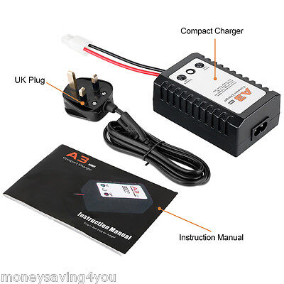 A3 Intelligent Balance Charger  DC 100-240AC for NIMH/NICD 5-8S RC Battery UK