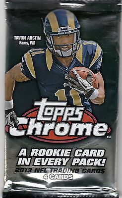 Topps Chrome 2014 NFL American Football Factory Sealed Trading Card Pack