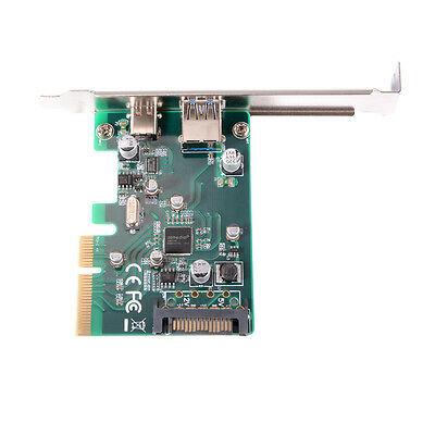 ASM1142 USB 3.1 2-Ports Type-C and Type A PCIE Host Adapter Expansion Card AC475