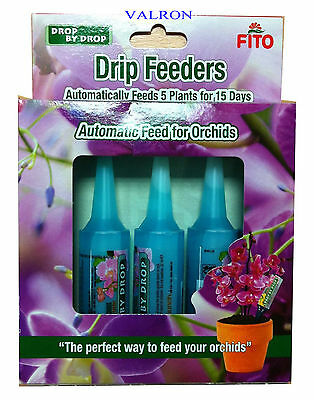Pack Of Fito Orchid Drip Feeder Food X 5 Automatic Feed For Orchids