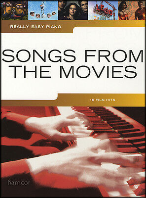 Really Easy Piano Songs from the Movies Sheet Music Book Film Motion Picture